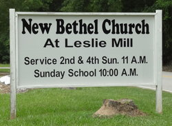 New Bethel Church at Leslie Mill Cemetery