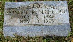 Berniece M. <I>Johnson</I> Nichelson