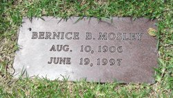 Bernice <I>Bond</I> Mosley