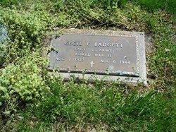 Sgt Cecil F. Badgett