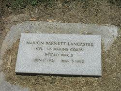 Marion Barnett Lancaster