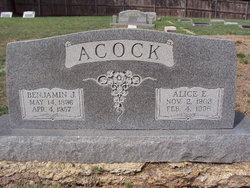 Alice Elsie <I>Brown</I> Acock