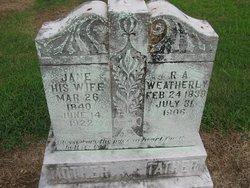 Rufus A Weatherly