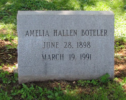 Amelia Elizabeth <I>Hallen</I> Boteler
