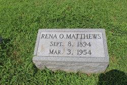 Rena O. <I>Wroe</I> Matthews