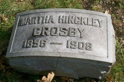 """Martha E """"Mattie"""" <I>Hinkley</I> Crosby"""