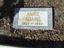 Annie May <I>Hollar</I> Adams