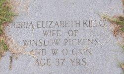 Barbria Elizabeth <I>Killough</I> Cain