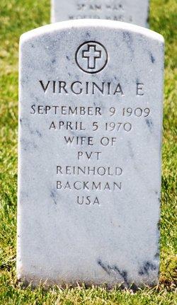 Virginia E Backman