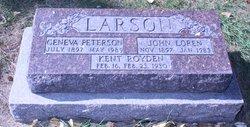Geneva Mae <I>Peterson</I> Larson