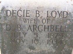 Decie Isabella <I>Lloyd</I> Archbell