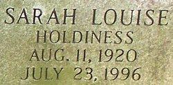 Sarah Louise <I>Holdiness</I> Neal