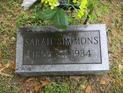 Sarah A <I>Cooper</I> Simmons