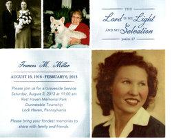 Frances M. <I>Goodman</I> Miller