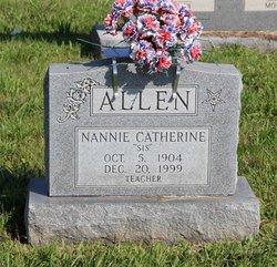 """Nannie Catherine """"Sis"""" Allen"""