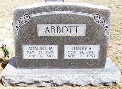 Adaline Myrtle <I>Dicken</I> Abbott
