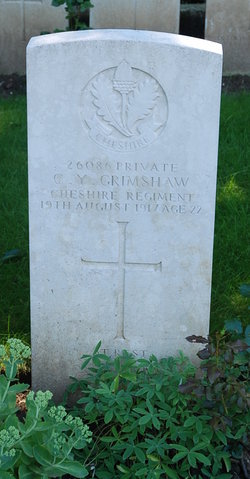 Pvt Cresswell Young Grimshaw