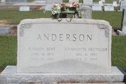 Charlotte Hesteller <I>Anderson</I> Anderson
