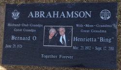 """Henrietta """"Bing"""" Abrahamson"""