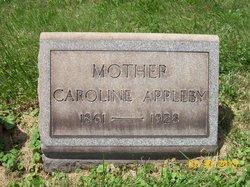 Caroline <I>Zook</I> Appleby