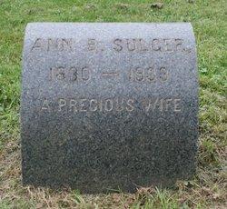 Ann B <I>Lane</I> Sulger
