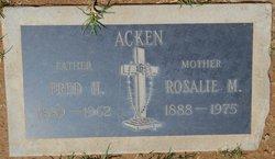 Rosalie M <I>McHugh</I> Acken