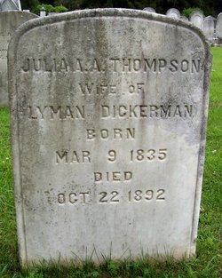 Julia A <I>Thompson</I> Dickerman