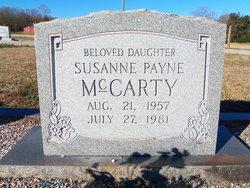 Susanne <I>Payne</I> McCarty
