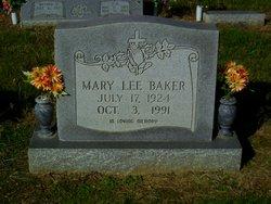 Mrs Mary Lee <I>Wanamaker</I> Baker