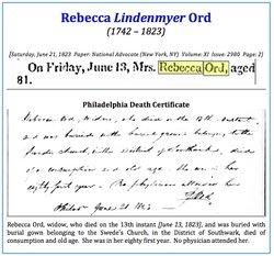Rebecca <I>Lindenmeyer</I> Ord