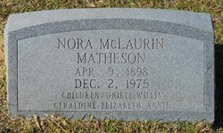 Nora <I>McLaurin</I> Matheson