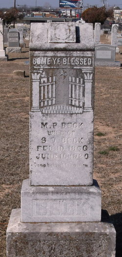 Martha P <I>Smith</I> Beck