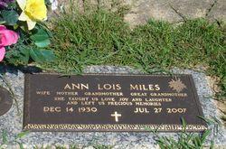 Ann Lois <I>Miller</I> Miles