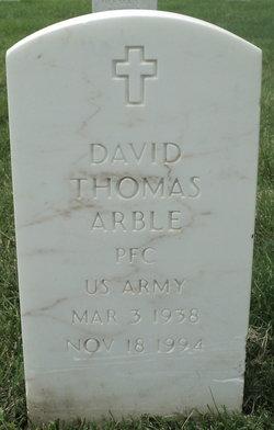 PFC David Thomas Arble