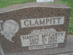 Nancy <I>McCarty</I> Clampitt