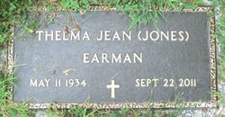 Thelma Jean <I>Jones</I> Earman