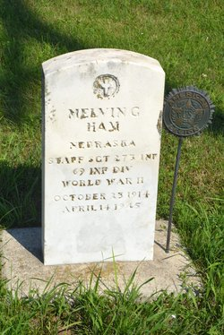 super popular 2281f b4110 Sgt Melvin G. Ham (1914-1945) - Find A Grave Memorial
