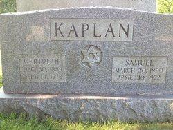 Gertrude <I>Rosenfield</I> Kaplan