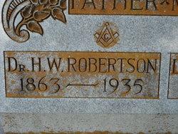 Dr H W Robertson