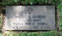 Col Willis Richard Givens
