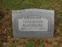 Lydia Miriam <I>Wolf</I> Blackmore