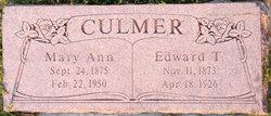 Mary Ann <I>Van Wagoner</I> Culmer