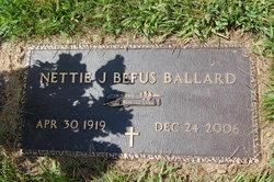 Nettie Jane <I>Korth</I> Befus Ballard