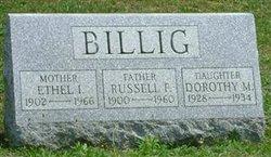 Ethel I <I>Gable</I> Billig