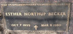 Esther <I>Northup</I> Becker