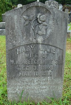 Mary Jane <I>McKenney</I> Abercrombie