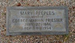 Mary Lillie <I>Peeples</I> Priester