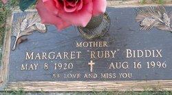 "Margaret ""Ruby"" <I>Rhodes</I> Biddix"