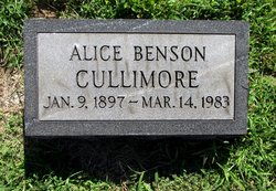 Alice <I>Benson</I> Cullimore
