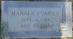 Mahala Jennie <I>Givens</I> Gaines